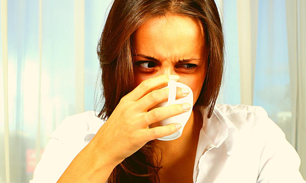 coffee tastes sour