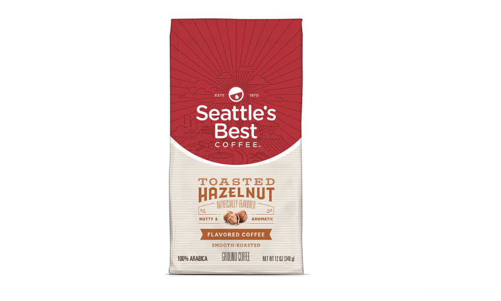 ‏Seattle's Best Coffee Toasted Hazelnut Flavored Medium Roast Ground Coffee