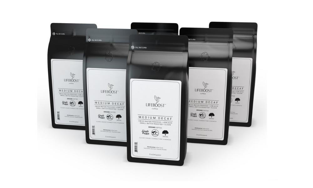 Lifeboost: Medium Roast Decaf Coffee