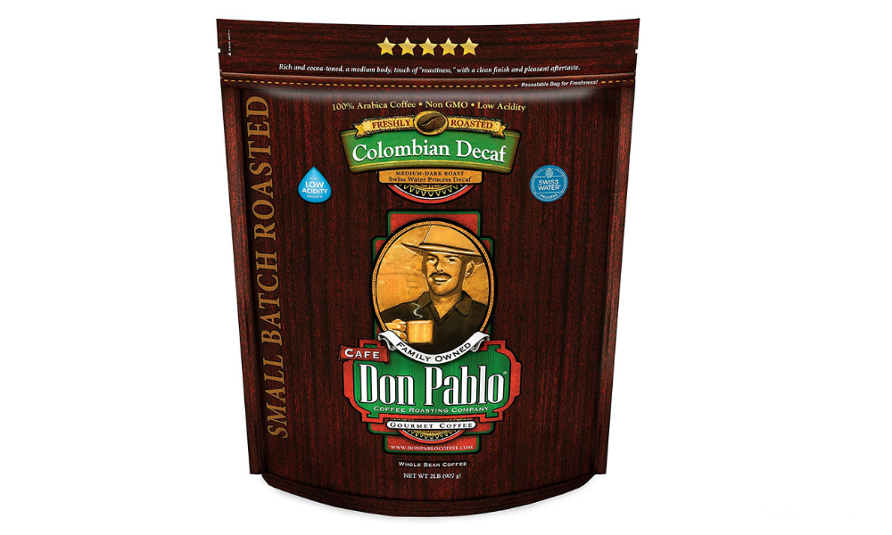 Don Pablo: Colombian Decaf (Medium Dark Roast Whole Bean)