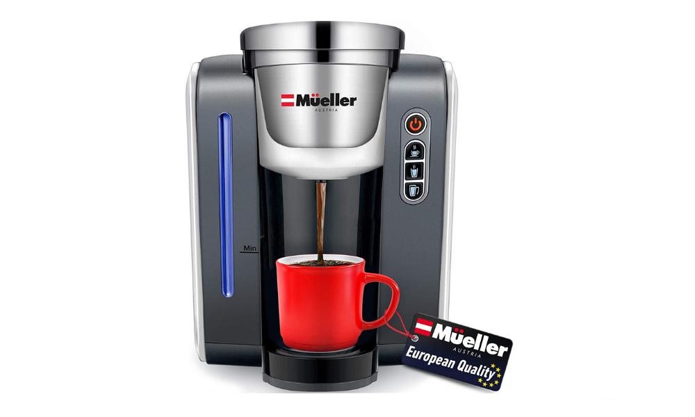Mueller Single Serve Pod Compatible Coffee Maker Machine With 4 Brew Sizes