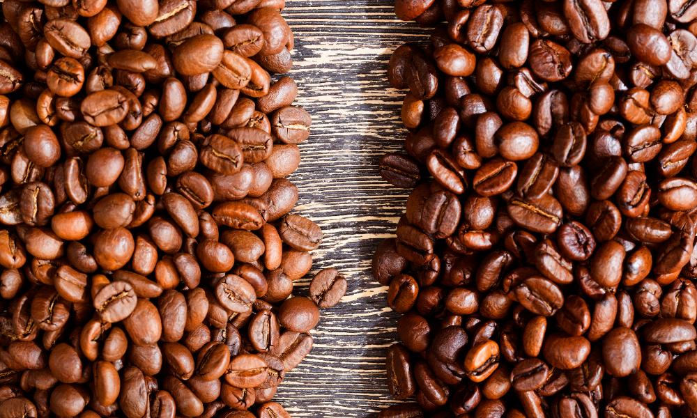 How would the roasting time of coffee beans affect their caffeine content